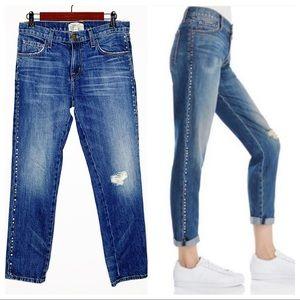 CURRENT/ELLIOTT The Fling Studded Boyfriend Jeans